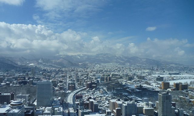 View West from Sapporo JR Tower Observatory